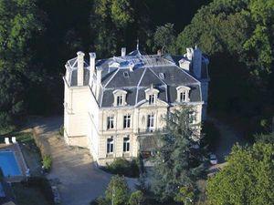 france pays de la loire Chateau de Verrieres aerial view